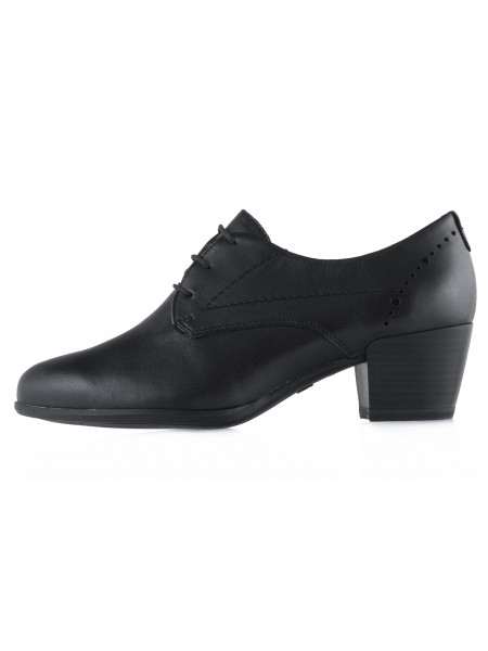 13414 TAMARIS (Germany) Полуботинки на шнурках осенние кожаные черные