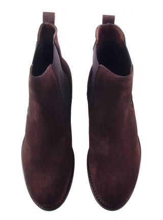 13421 TAMARIS (Germany) Полуботинки осенние замшевые темно-коричневые