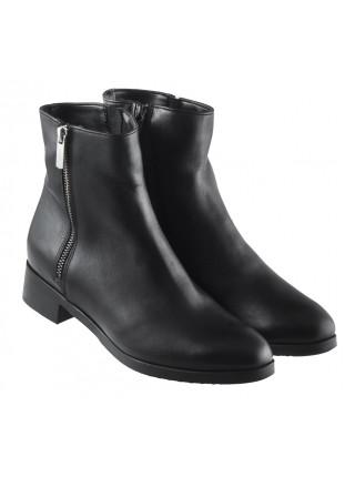 13431 RYLKO (Poland) Полуботинки зимние кожаные черные