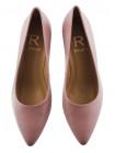 Туфли кожаные RYLKO (Poland ) 13436 розовые