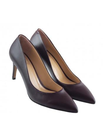 13444 LIBA SHOES (Turkey) Туфли кожаные бордовые