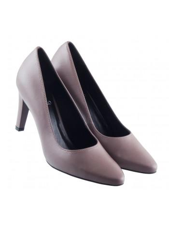 Туфли кожаные RYLKO (Poland ) 13489 серые