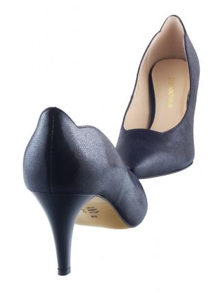 Туфли кожаные SHOEBOOUTIQUE (Poland ) 13507 темно-синие
