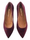 Туфли замшевые SHOEBOOUTIQUE (Poland ) 13511 бордовые