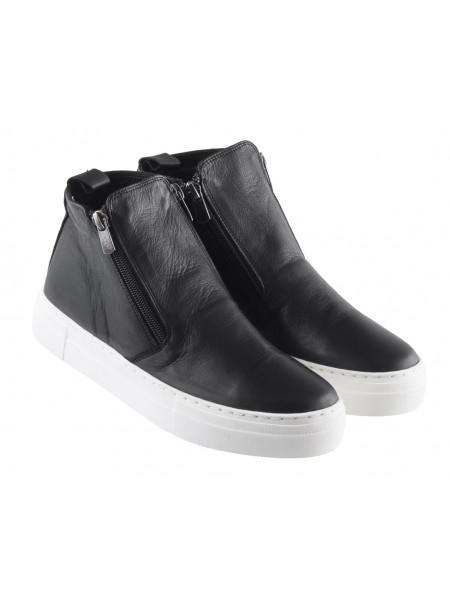 13525 ROVIGO (Turkey) Полуботинки-спорт осенние кожаные черные