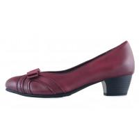 13534 JANA (Germany) Туфли кожаные темно-бордовые