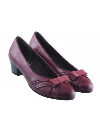 Туфли кожаные JANA (Germany) 13534 темно-бордовые