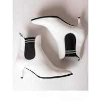 Ботильоны осенние кожаные SHOEBOOUTIQUE (Poland ) 13572 белые