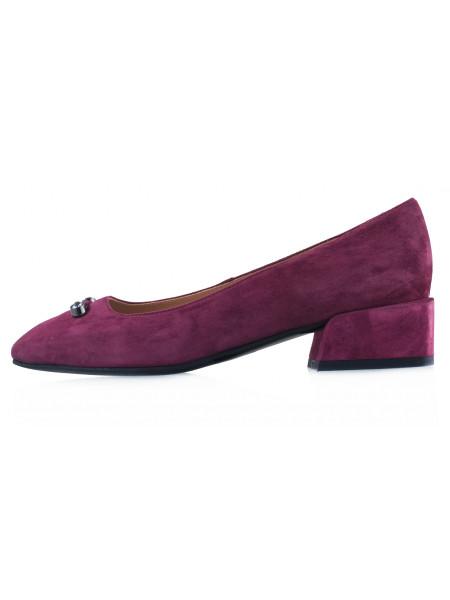 13598 VICTIM (Poland) Туфли замшевые бордовые