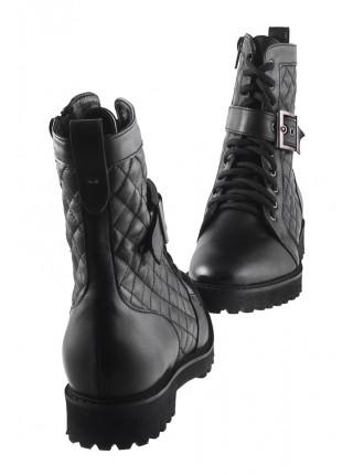 13603 VICTIM (Poland) Полуботинки осенние кожаные черные