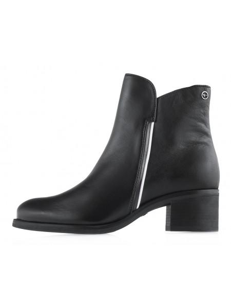 13654 TAMARIS (Germany) Полуботинки осенние кожаные черные