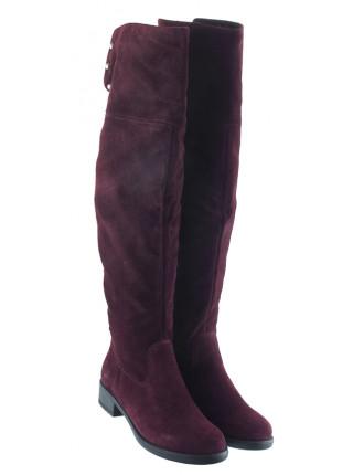 Ботфорты зимние замшевые TAMARIS (Germany) 13656 темно-бордовые