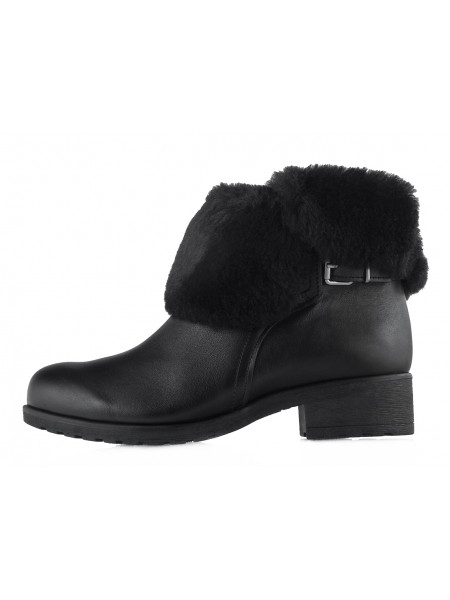 13673 CAPRICE (Germany) Полуботинки зимние кожаные черные