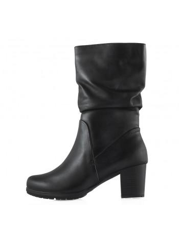 13691 JANA (Germany) Полусапожки осенние кожаные черные