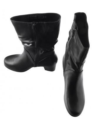 Полусапожки осенние кожаные JANA (Germany) 13691 черные