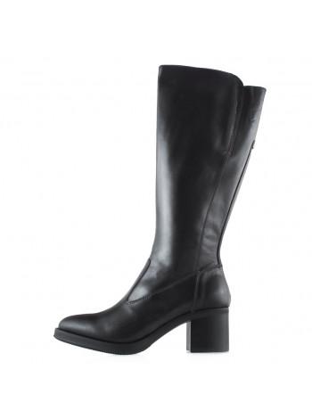 13696 NERO GIARDINI (Italy) Сапоги осенние кожаные темно-коричневые