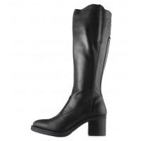 13697 NERO GIARDINI (Italy) Сапоги осенние кожаные черные