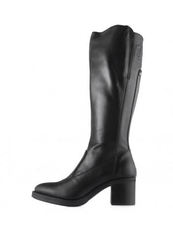Сапоги осенние кожаные NERO GIARDINI (ИТАЛИЯ) 13697 черные