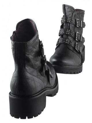 Полуботинки осенние кожаные NERO GIARDINI (ИТАЛИЯ) 13701 черные