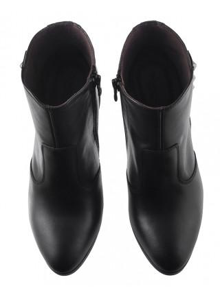 Ботильоны осенние кожаные NERO GIARDINI (ИТАЛИЯ) 13708 черные