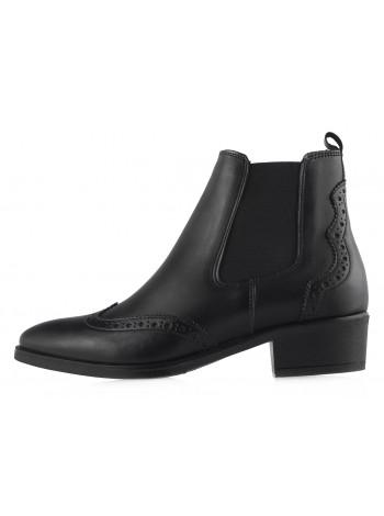 13728 TAMARIS (Germany) Полуботинки осенние кожаные черные