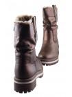 13735 TAMARIS (Germany) Полусапожки зимние кожаные коричнево-золотистые