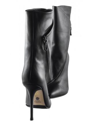 Ботильоны осенние кожаные DIVINO (Turkey) 13742 черные