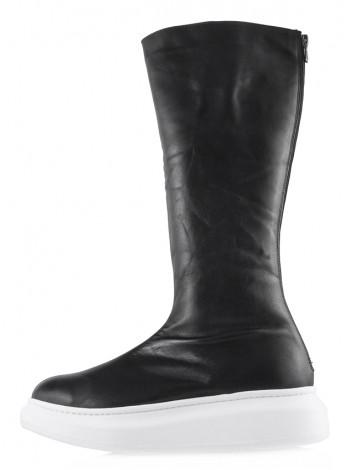 13745 SCARPAMORE (Turkey) Сапоги осенние кожаные черные
