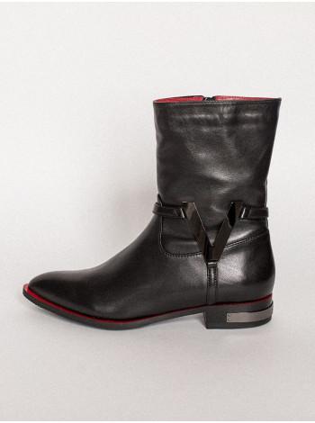 Полусапожки осенние кожаные VICTIM (Poland) 13762 черные