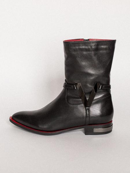 13762 VICTIM (Poland) Полусапожки осенние кожаные черные