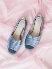 13775 DESCARA (Turkey) Туфли открытые замшевые голубые
