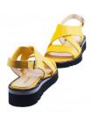 Босоножки кожаные DESCARA (Turkey) 13777 желтые
