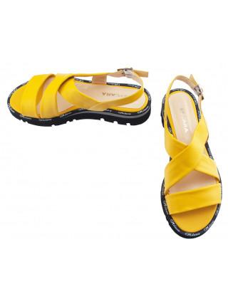 13777 DESCARA (Turkey) Босоножки кожаные желтые