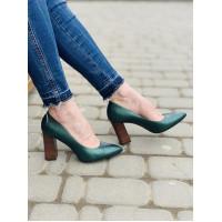 Туфли кожаные SHOEBOOUTIQUE (Poland ) 13793 зеленые