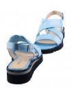 Босоножки кожаные DESCARA (Turkey) 13804 голубые