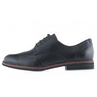13853 TAMARIS (Germany) Туфли-броги кожаные черные