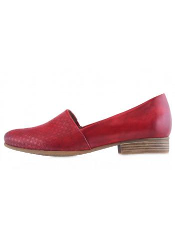 13859 TAMARIS (Germany) Лоферы кожаные красные