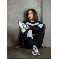 Кроссовки кожаные SECRET ZONE (Turkey) 13887 бело-серые