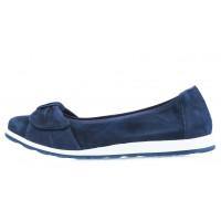 13944 CAPRICE (Germany) Балетки замшевые синие