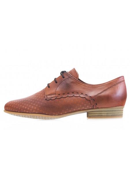 13990 TAMARIS (Germany) Туфли кожаные коричневые н/х