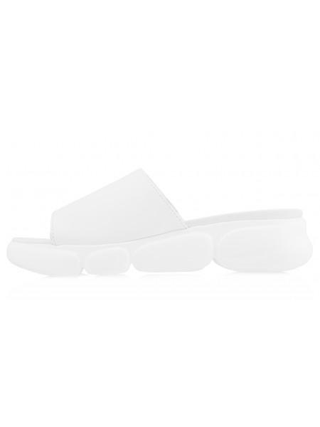14005 TAMARIS (Germany) Шлепки кожаные белые с/х