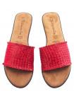 14010 TAMARIS (Germany) Шлепки кожаные красные н/х
