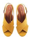 Босоножки нубуковые CAPELLI ROSSI (Brazil) 14047 желтые