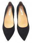 Туфли замшевые BONTY (Poland ) 14092 черные