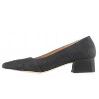 Туфли нубуковые BONTY (Poland ) 14094 черные