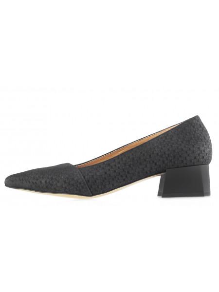 14094 BONTY (Poland) Туфли нубуковые черные с/х