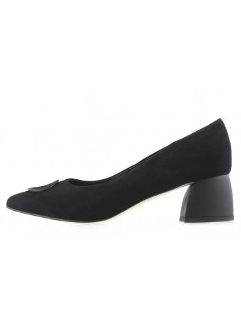 Туфли замшевые BONTY (Poland ) 14095 черные