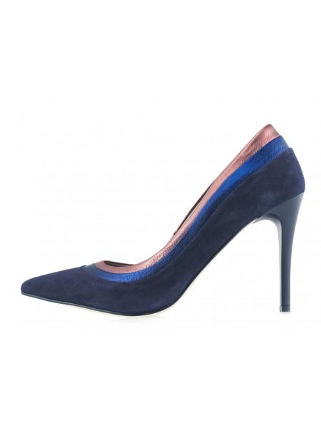 14096 BONTY (Poland) Туфли замшево-кожаные темно-синие в/х