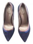 Туфли замшево-кожаные BONTY (Poland ) 14096 темно-синие
