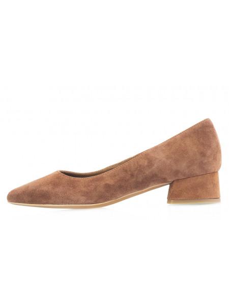 Туфли замшевые RYLKO (Poland ) 14103 коричневые